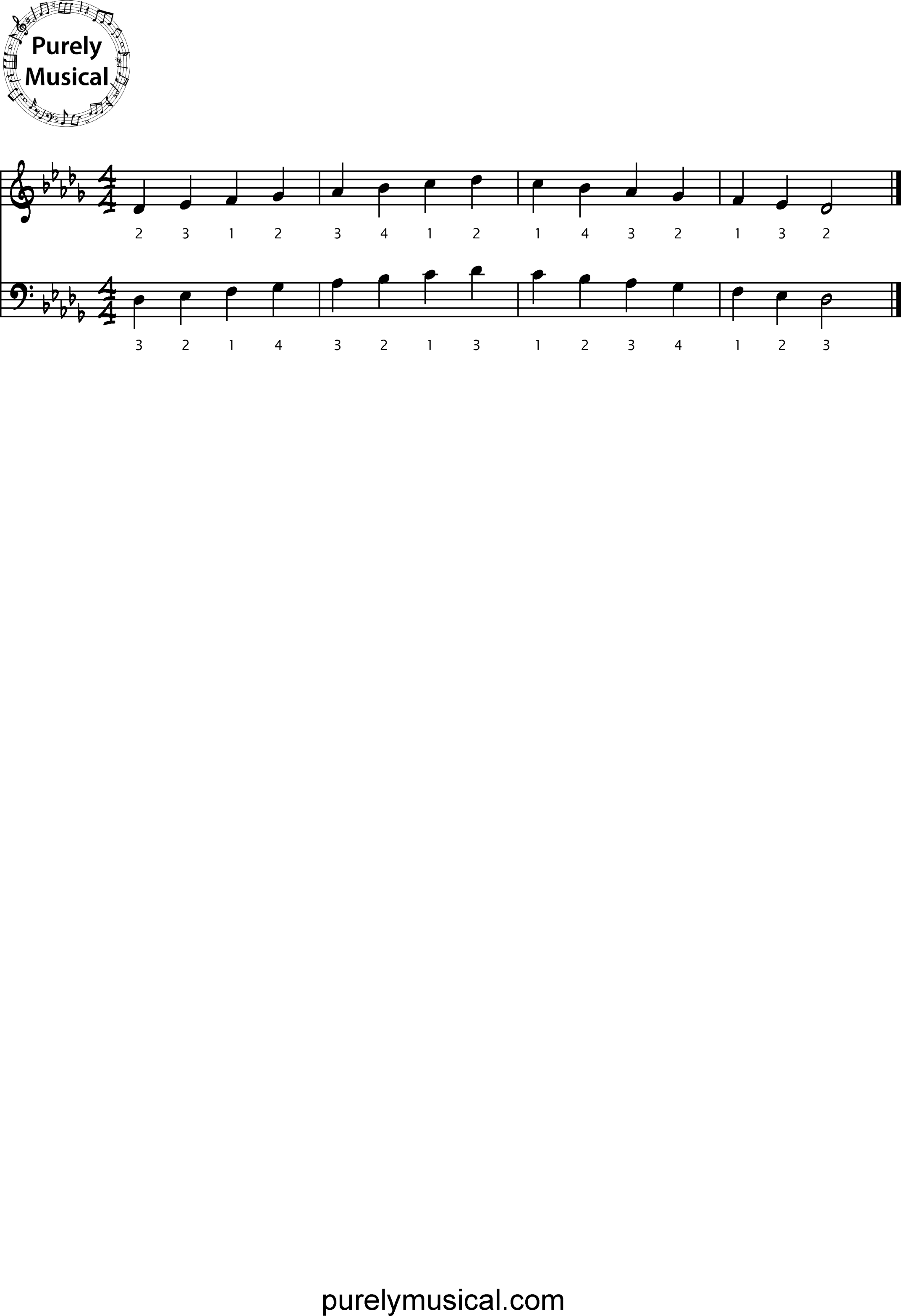 Intermediate  Scales Db Major Scale