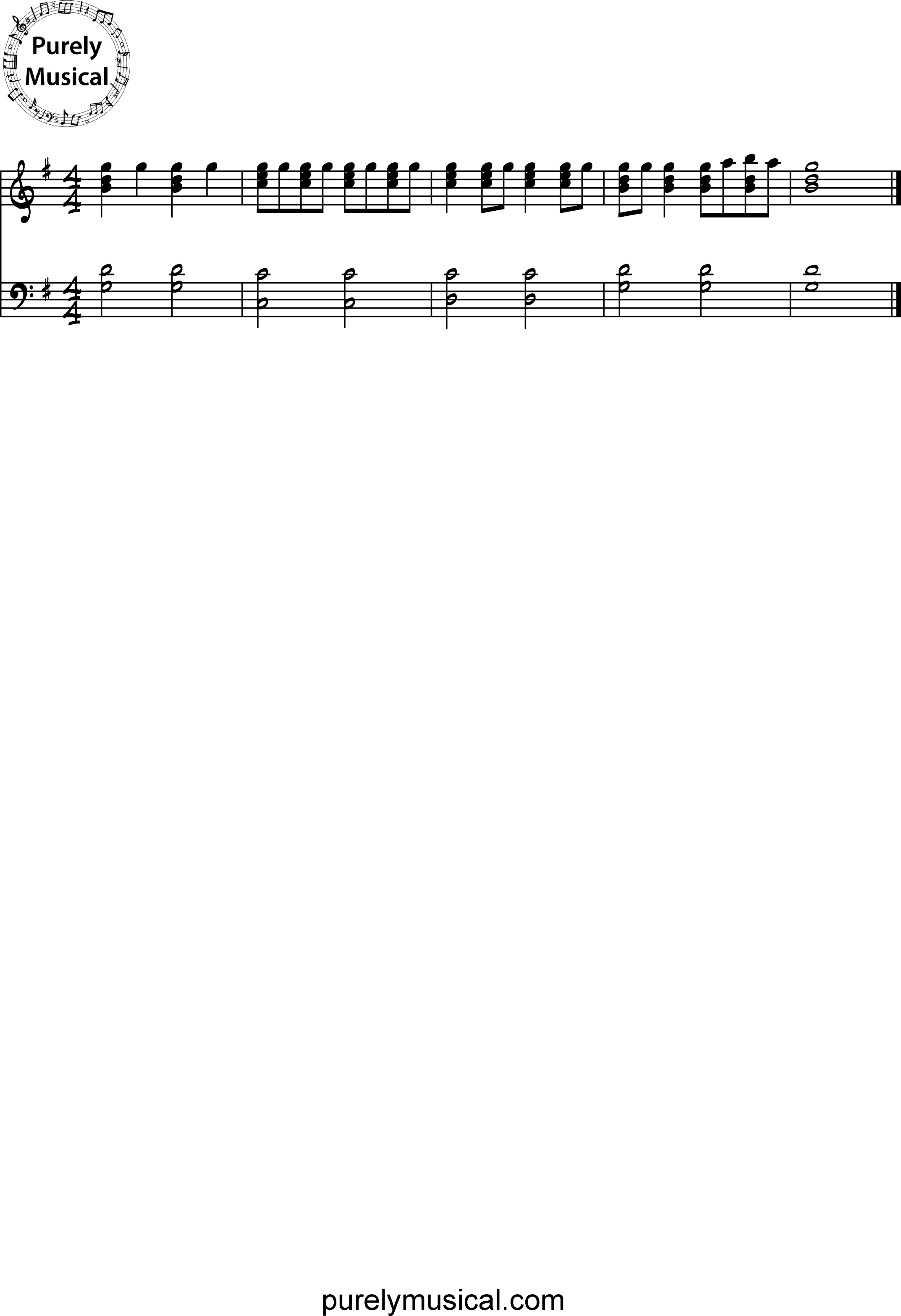 Beginner  Exercise G Major Rhythm Exercise 3