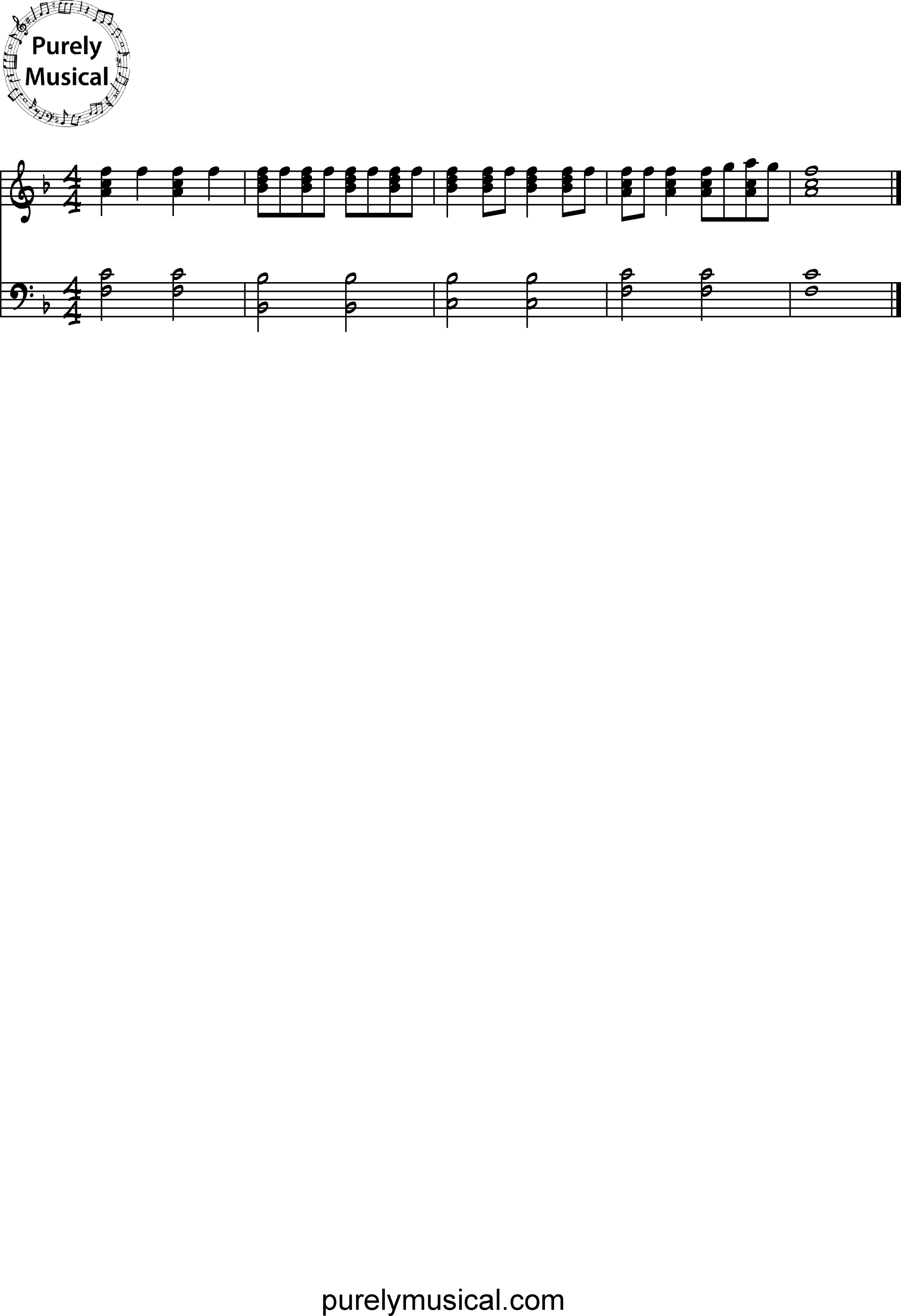 Beginner  Exercise F Major Rhythm Exercise 3