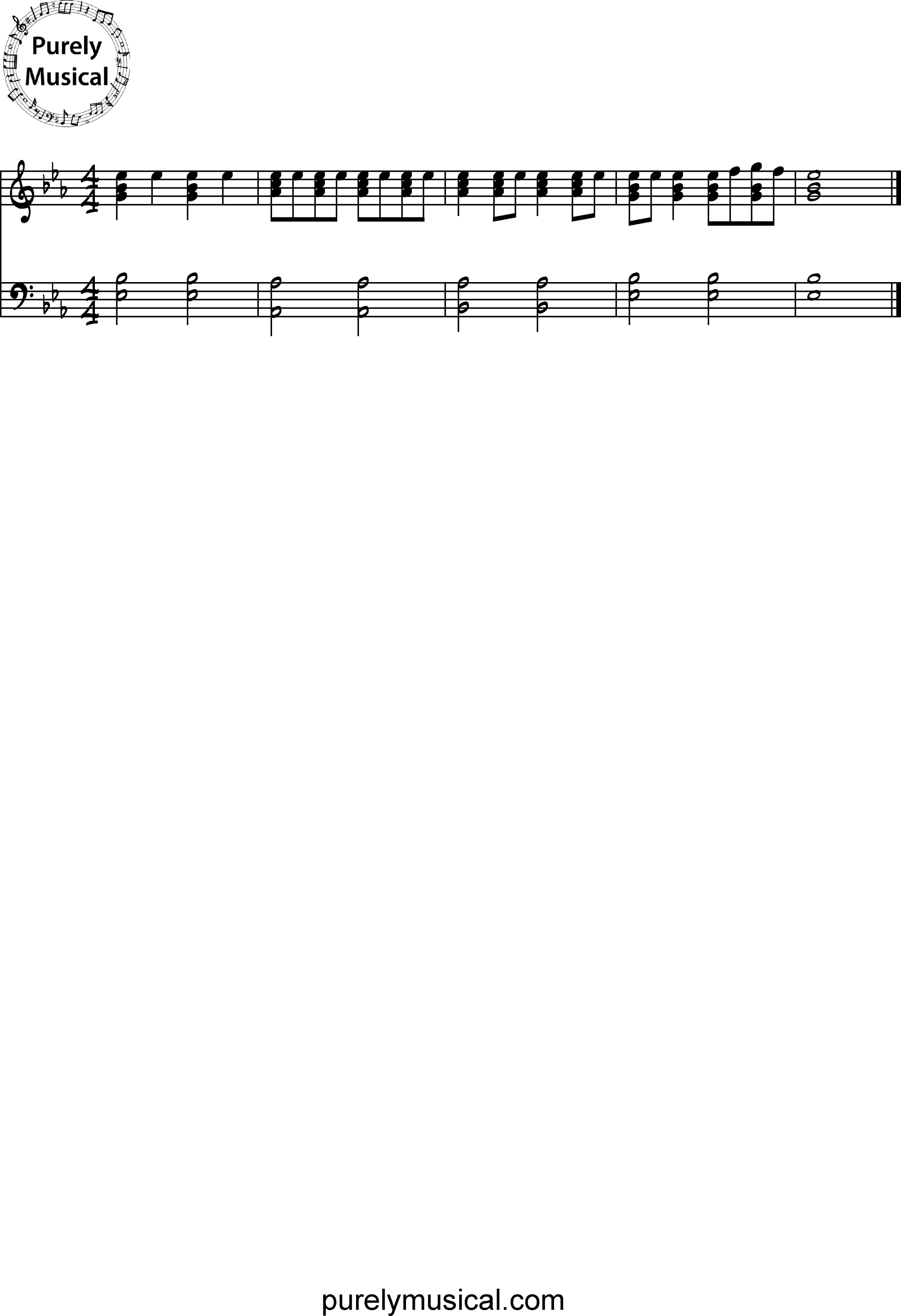 Beginner  Exercise Eb Major Rhythm Exercise 3